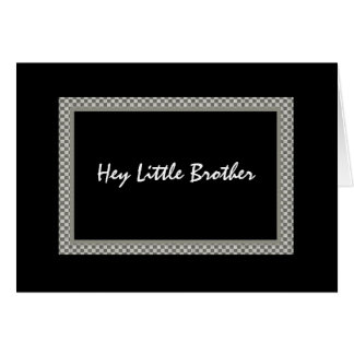 BROTHER - Be My Best Man - Checkerboard Greeting Card