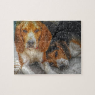 Brother Beagles Jigsaw Puzzle