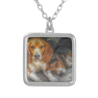 Brother Beagles Silver Plated Necklace