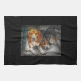 Brother Beagles Towel