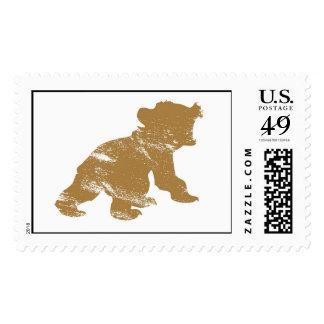Brother Bear Koda Rawring Drawing Disney Postage Stamp