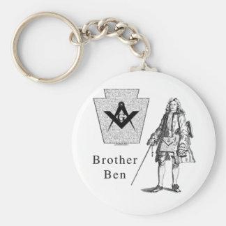 Brother Ben Franklin Basic Round Button Keychain