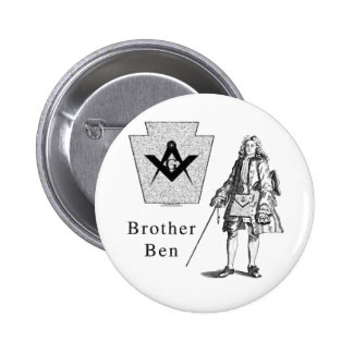 Brother Ben Franklin Button
