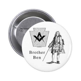 Brother Ben Franklin Pin Redondo De 2 Pulgadas