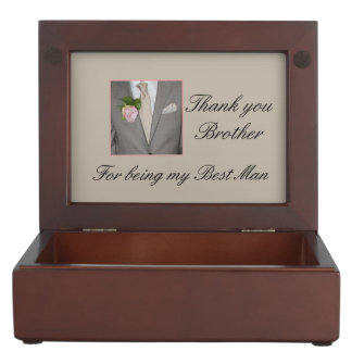 Brother best man thank you memory box