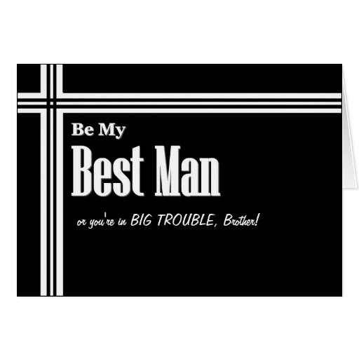 BROTHER Best Man Wedding InvitationFunny Zazzle