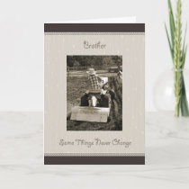 Brother Birthday Farm Boy Humor Card