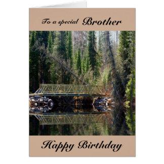 Brother - Birthday - Forest Bridge Card