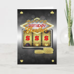 """Brother Birthday Greeting Card With Slots And Coin<br><div class=""""desc"""">Great For those who love a flutter weather it&#39;s on the slot machines (fruit machines / one arm bandit) or just that stylish casino look</div>"""
