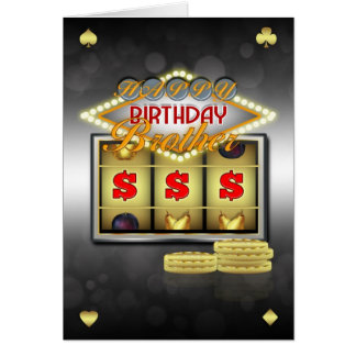 Brother Birthday Greeting Card With Slots And Coin