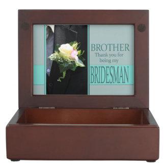 Brother Bridesman thank you Keepsake Box