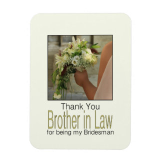 Brother Bridesman thank you Rectangular Photo Magnet