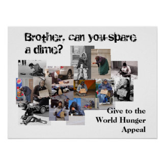 Brother, can you spare a dime? posters