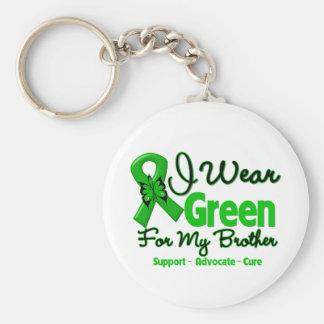 Brother - cinta verde de la conciencia llavero redondo tipo pin