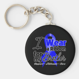 Brother - Colon Cancer Ribbon Basic Round Button Keychain