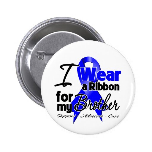 Brother - Colon Cancer Ribbon Pinback Buttons