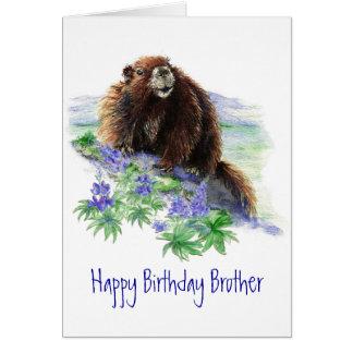 Brother, cumpleaños puso en peligro el saludo anim tarjeta de felicitación