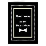 BROTHER Custom Name Best Man Wedding Invitation Cards