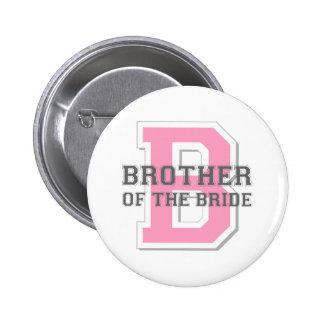 Brother de la alegría de la novia pin redondo de 2 pulgadas