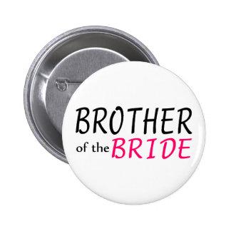 Brother de la novia pin redondo de 2 pulgadas
