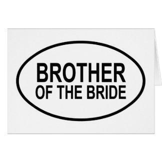 Brother de la novia que casa óvalo tarjeta de felicitación