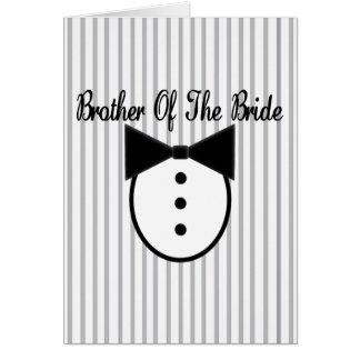 Brother de la novia tarjeta de felicitación