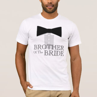 Brother de la pajarita de la novia playera