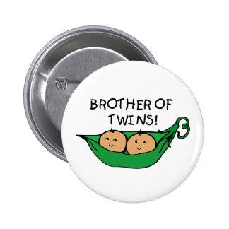 Brother de la vaina de los gemelos pin redondo de 2 pulgadas