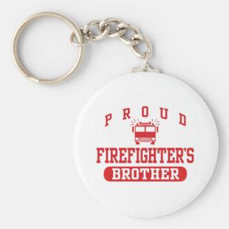 Brother del bombero llavero redondo tipo pin