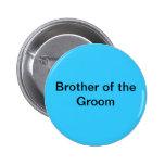 Brother del botón del novio pin