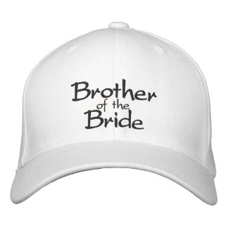 Brother del casquillo bordado elegante de la novia gorra de béisbol