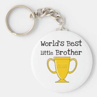 Brother del mundo del campeón mejor pequeño llavero redondo tipo pin