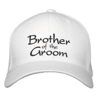 Brother del novio bordado casando el casquillo gorra de beisbol