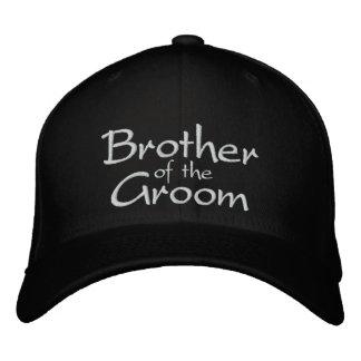 Brother del novio bordado casando el casquillo gorra de béisbol