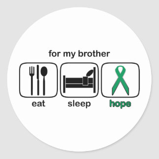 Brother Eat Sleep Hope - Kidney Cancer Classic Round Sticker