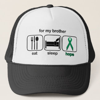 Brother Eat Sleep Hope - Kidney Cancer Trucker Hat
