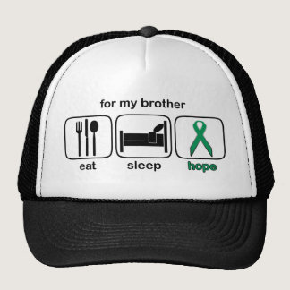 Brother Eat Sleep Hope - Kidney Cancer Trucker Hat