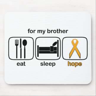 Brother Eat Sleep Hope - Leukemia Mouse Pad
