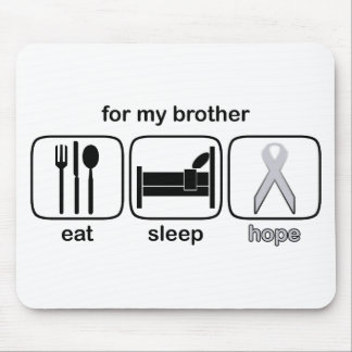 Brother Eat Sleep Hope - Lung Cancer Mouse Pad