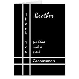 BROTHER - el boda del padrino de boda le agradece Tarjeta