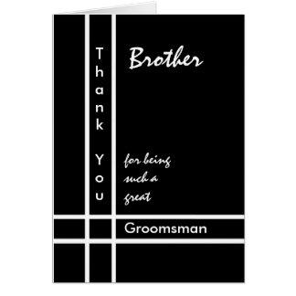 BROTHER - el boda del padrino de boda le agradece Tarjeton