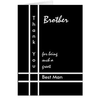 BROTHER - el mejor boda del hombre le agradece Felicitación