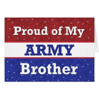 - BROTHER en ejército - pensamiento militar en Tarjeta De Felicitación