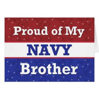- BROTHER en marina de guerra - pensamiento Tarjeta De Felicitación