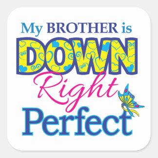 Brother está abajo de derecho perfecciona calcomania cuadrada personalizada