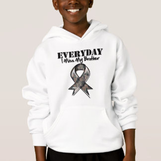 Brother - Everyday I Miss My Hero Military Hoodie