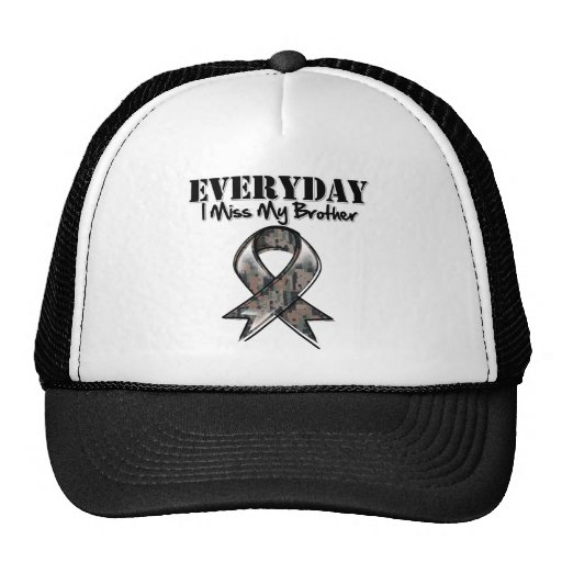 Brother - Everyday I Miss My Hero Military Trucker Hat
