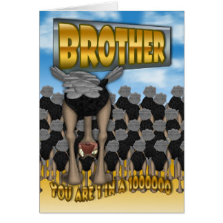 Brother Father's Day Card - You Are 1 In a 1000000