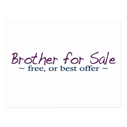 Brother for Sale Postcard