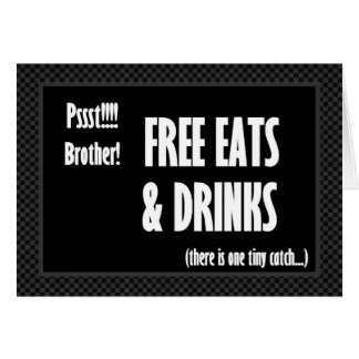 BROTHER Funny Best Man Invitation Free Food Cards